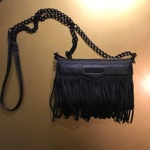 Rebecca Minkoff Black Fringe Leather Crossbody